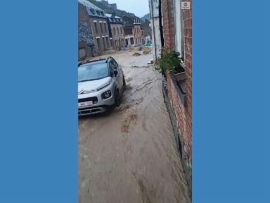 WATCH:  New round of flooding inundates Belgium streets