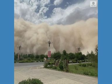 WATCH:  Huge sandstorm engulfs China city