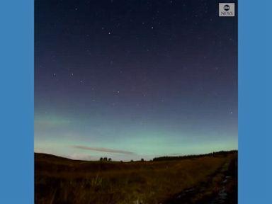 WATCH:  Aurora borealis stretches across Irish sky