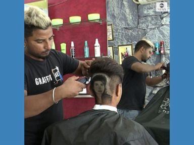 WATCH:  Creative barbers turn heads into art