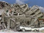 PHOTO: Rubble of a collapsed building in Zona Rosa area of Mexico City, a popular commercial and tourist area shown September 21,1985, after an earthquake leveled parts of the city two days earlier.
