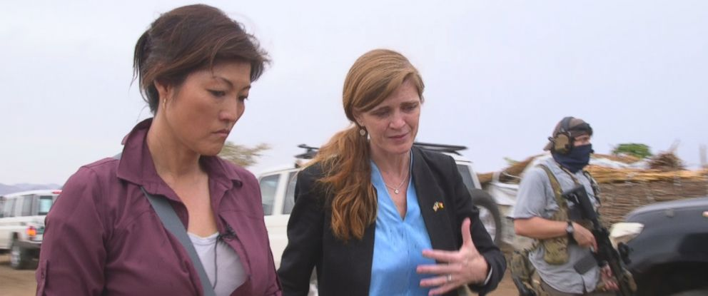 PHOTO: ABC News Juju Chang travelled with Samantha Power, United States Ambassador to the United Nations, through three African countries.