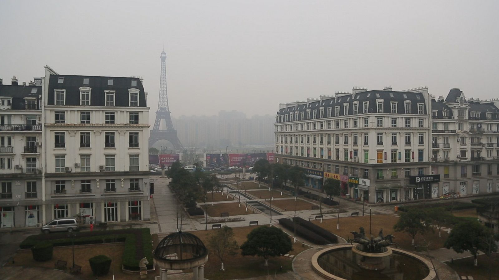 china s fake cities are eerie replicas of paris london and