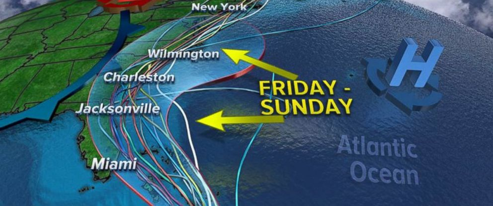PHOTO: Hurricane Matthews possible paths towards the U.S.