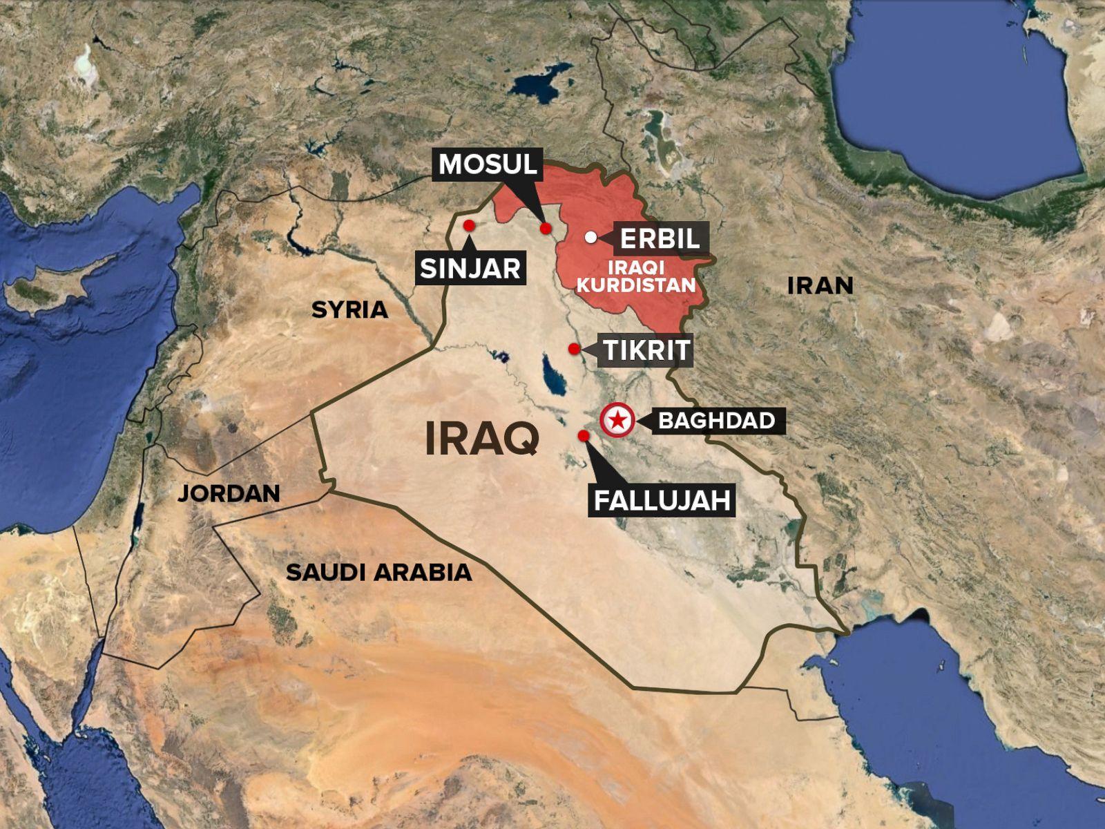 PHOTO Iraq Map Kurdistan ABC News