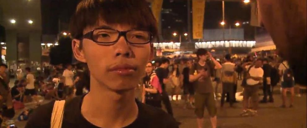 "PHOTO: Joshua Wong, 17, says he hopes to ""motivate more citizens to care about the future of Hong Kong."""