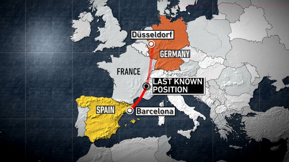 A Germanwings passenger plane crashed in southern France killing all on board. The passenger jet, operated by Germanwings, crashed in the French Alps region near the town of Digne as it traveled from Barcelona to Dusseldorf.
