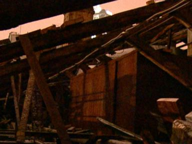 PHOTO: A group of 50 men destroyed the roof and stole property in December, according to management.