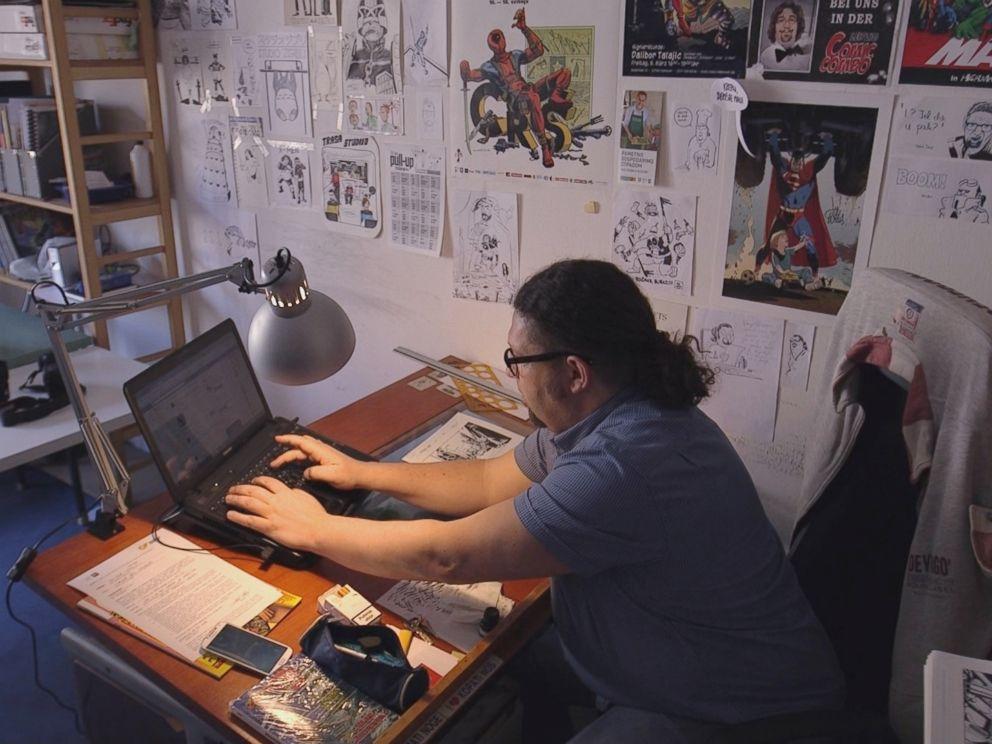 PHOTO: Dalibor Talajic working in his studio in Zagreb, Croatia.