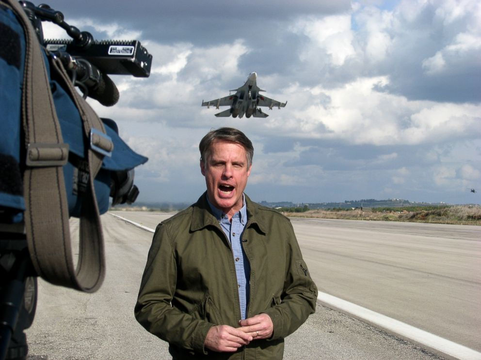 PHOTO: Terry Moran reports from the air base.