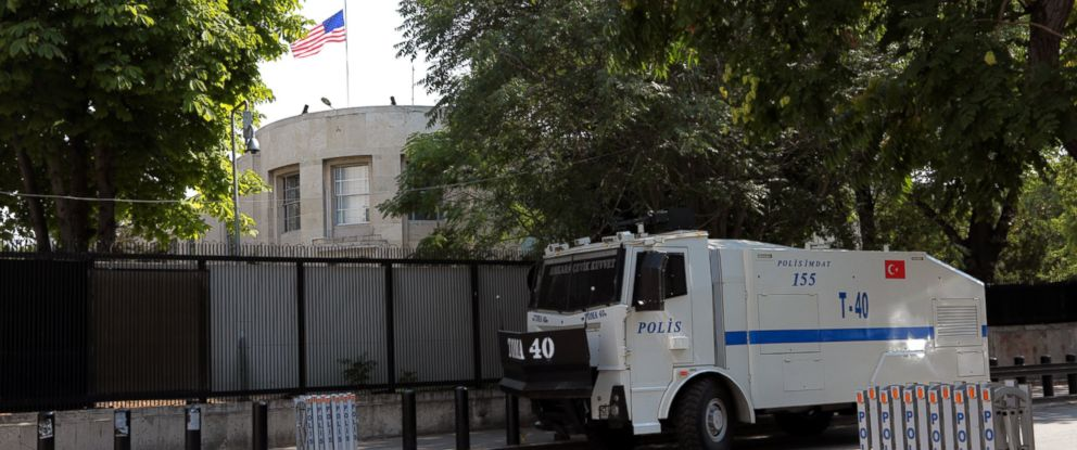 PHOTO: The U.S. Embassy in Ankara, Turkey, July 18, 2016.
