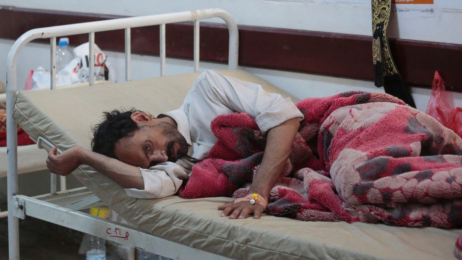 Fast spreading cholera outbreak in war torn yemen kills scores abc news