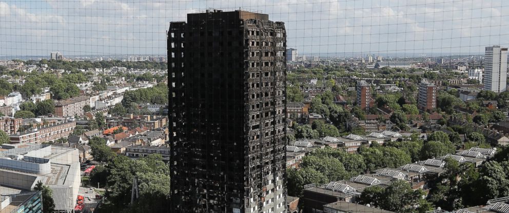 Photo The Scorched Facade Of Grenfell Tower In London June 15 2017