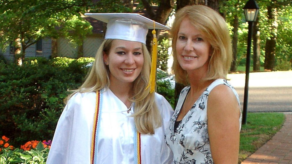 In this undated handout photo, Natalee Holloway, 18, stands with her mother, Beth Twitty, at her home before her high school graduation ceremony from Mountain Brook High School in Alabama, May 24, 2005.