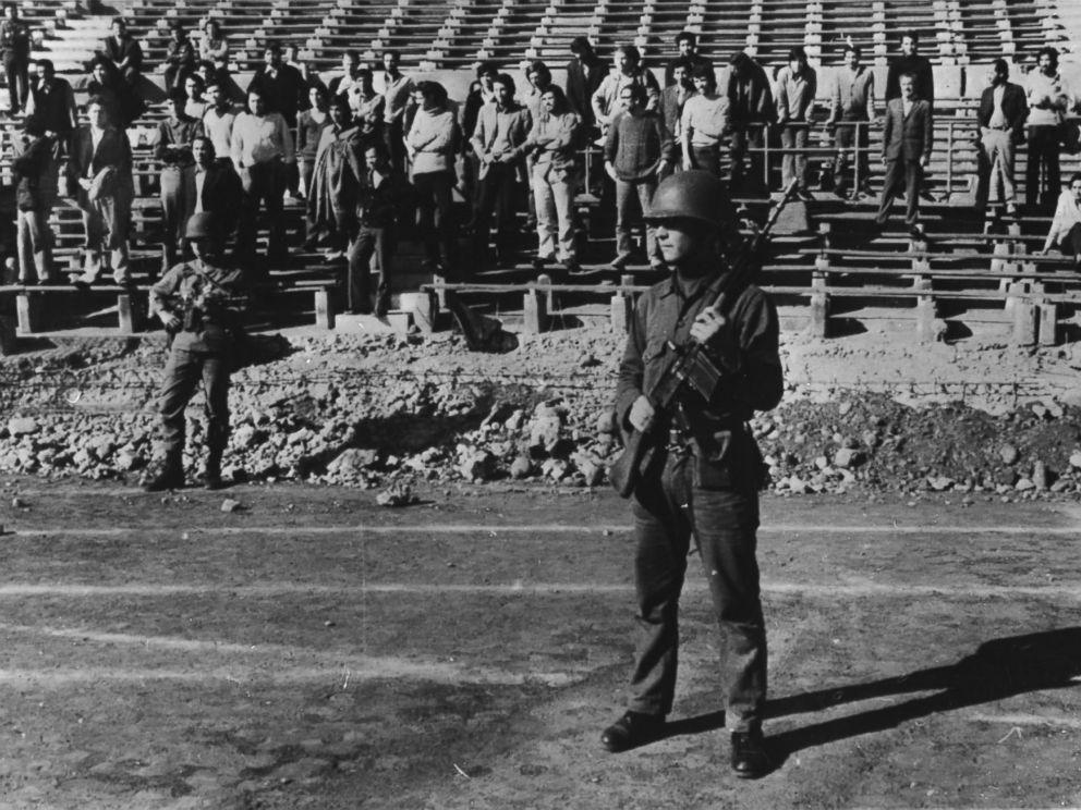 PHOTO: The stadium in Santiago, Chile held political prisoners, Nov. 14, 1973.