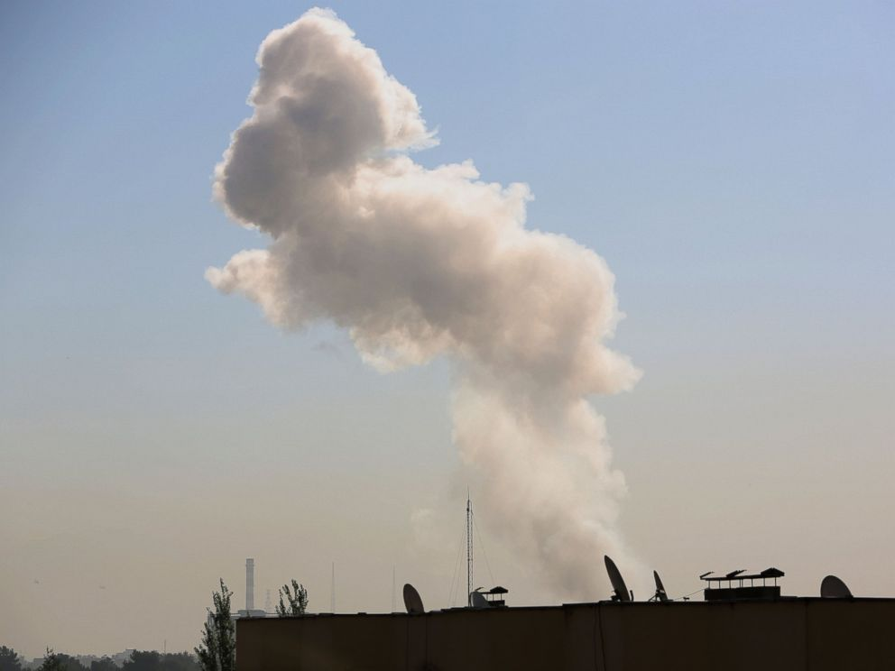 PHOTO: Smoke rises after a suicide attack in Kabul, Afghanistan, Sept. 16, 2014.