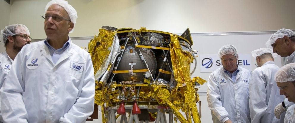 PHOTO: SpaceIL and the state-owned Israel Aerospace Industries plan to launch the lunar lander on a SpaceX Falcon rocket Thursday night, Feb. 21, 2019, from Cape Canaveral, Fla.