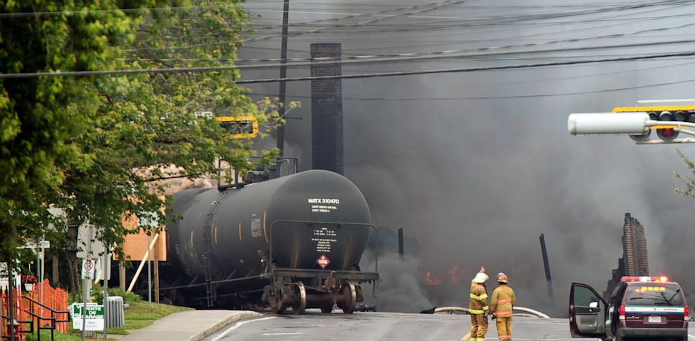 Canadian Town Evacuated After Freight Train Carrying Fuel Derails