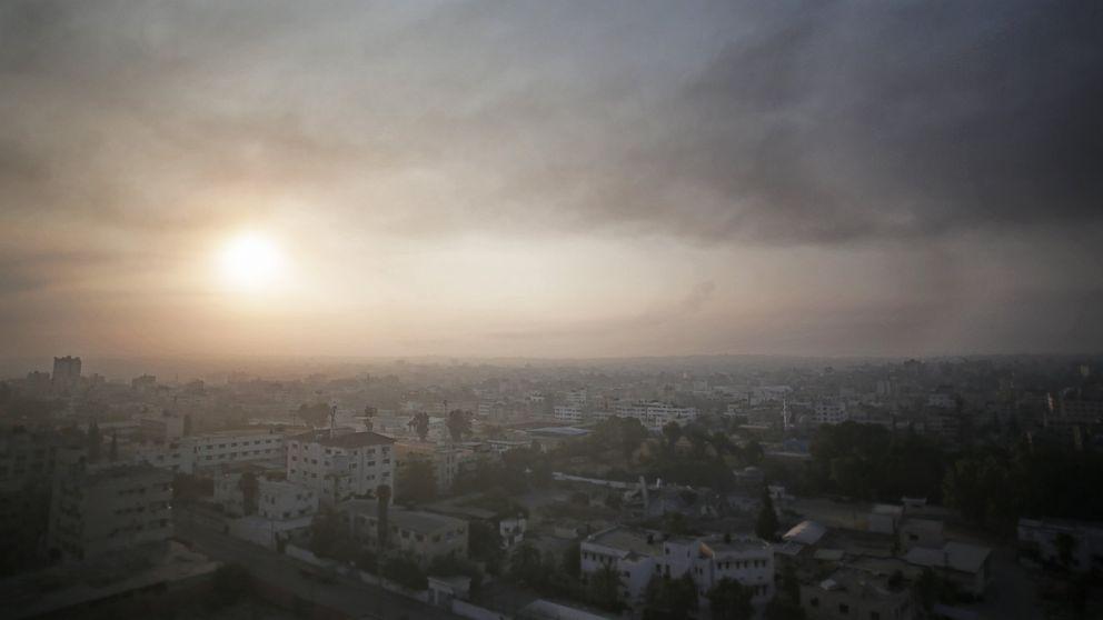 Smoke from Israeli strikes rises over Gaza City, July 29, 2014.