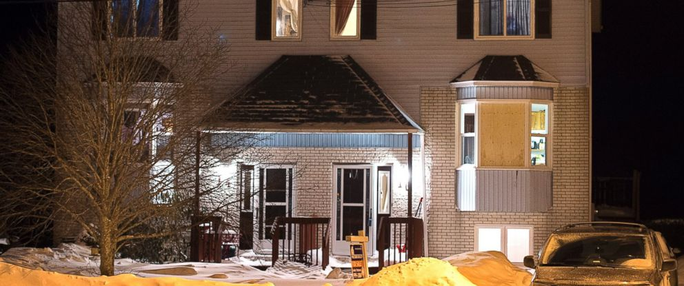 PHOTO: Residence in Timberlea, Nova Scotia, a Halifax suburb, where police found a deceased man. The man was a suspect in a Valentines Day mass murder plot, Feb. 13, 2015.