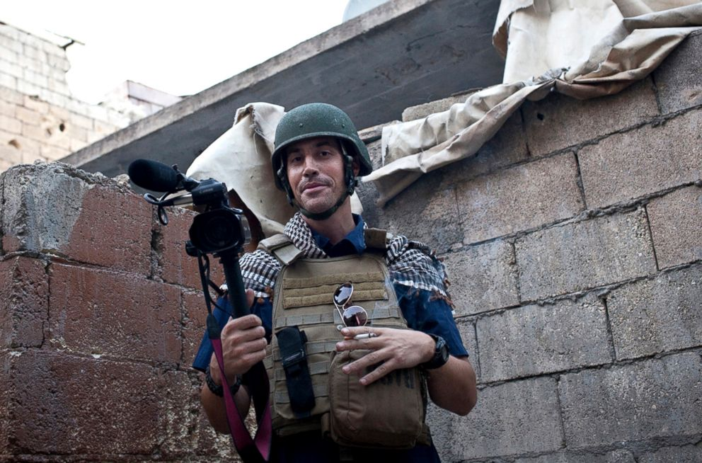 PHOTO: Journalist James Foley is pictured while covering the civil war in Aleppo, Syria, on Nov. 2012.