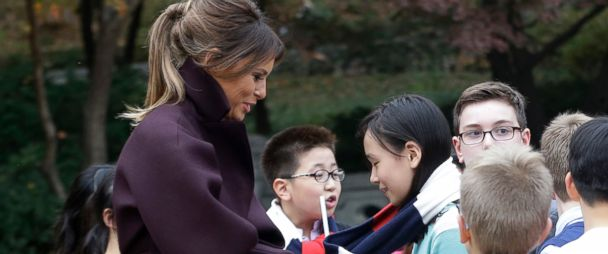Melania Trump's moment with K-pop star goes viral in South Korea