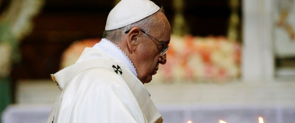 PHOTO: Pope Francis celebrates a Mass of reconciliation at Seouls main cathedral in South Korea, Aug. 18, 2014.
