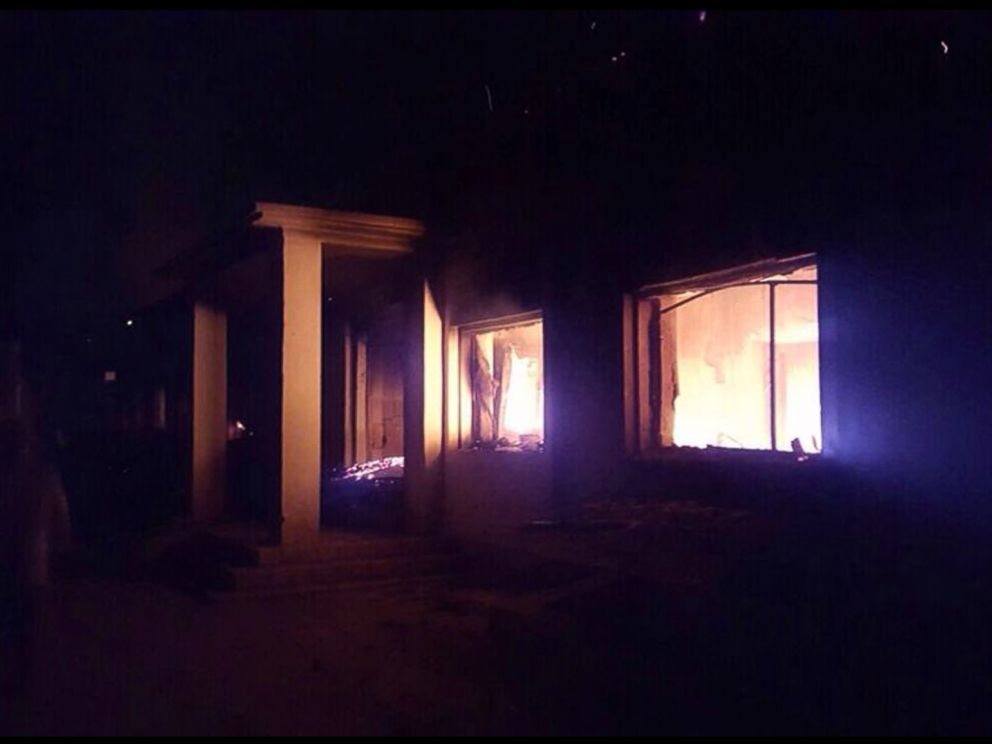 PHOTO: The Doctors Without Borders trauma center is seen in flames, after explosions near their hospital in the northern Afghan city of Kunduz, Oct. 3, 2015.