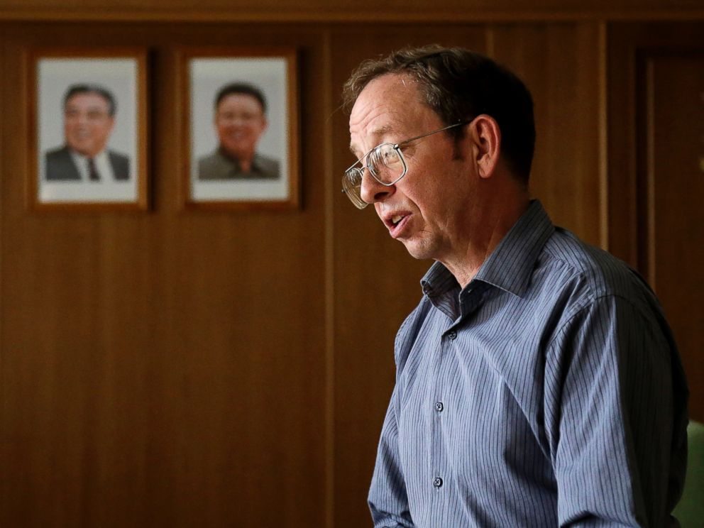 PHOTO: Jeffrey Fowle, an American detained in North Korea, speaks to the Associated Press