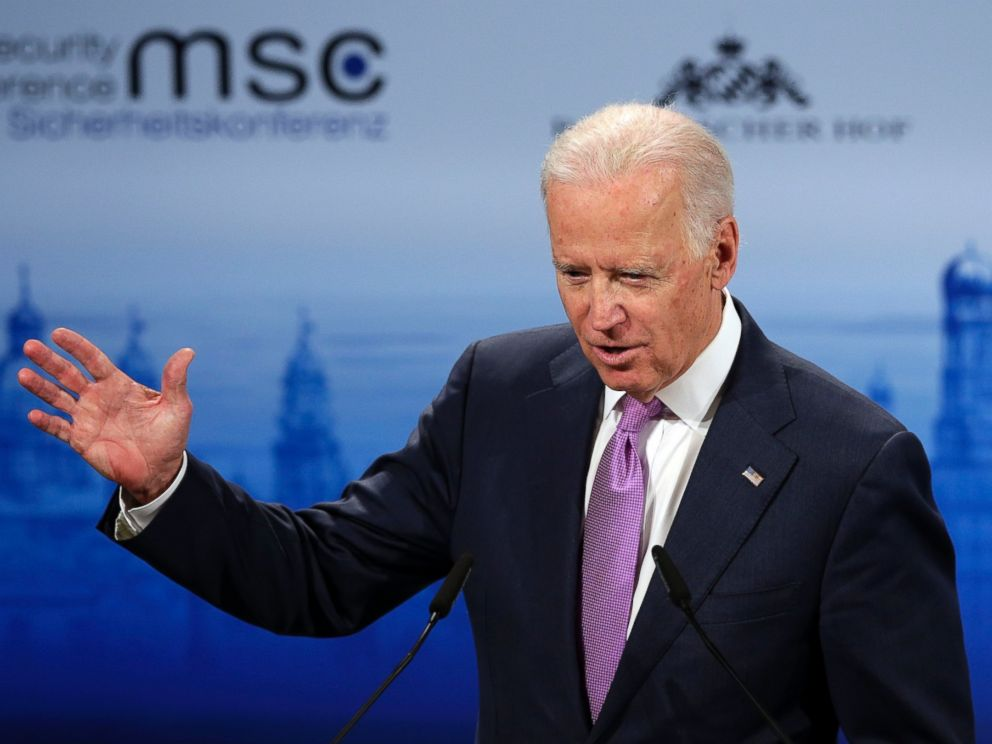PHOTO: U.S. Vice President Joe Biden delivers his speech at the 51. Security Conference in Munich, Germany, Saturday, Feb. 7, 2015.