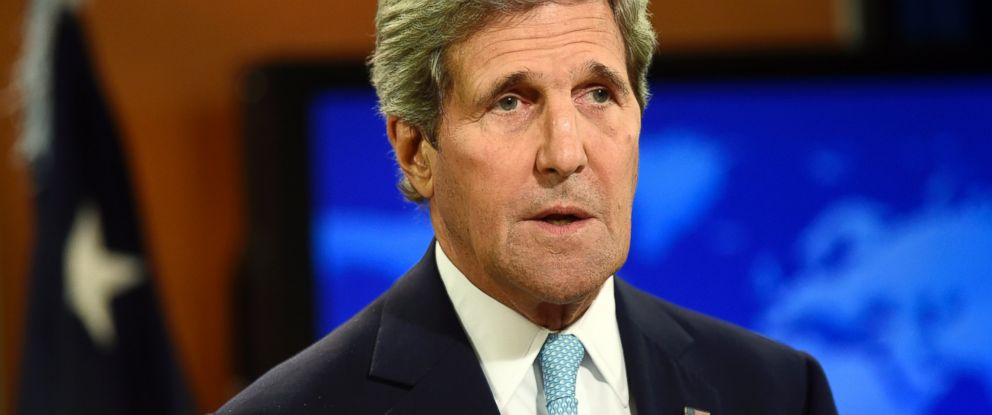 PHOTO: Secretary of State John Kerry is pictured speaking at the State Department in Washington, D.C. on Sept. 8, 2014.