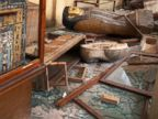 PHOTO: Damaged pharaonic objects lie on the floor and in broken cases in the Malawi Antiquities Museum after it was ransacked and looted between the evening of Thursday, Aug. 15 and the morning of Friday, Aug. 16, 2013, in Malawi, south of Minya, Egypt.