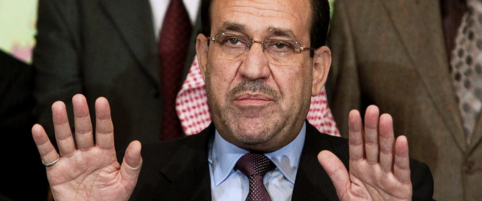 PHOTO: Nouri al-Maliki is pictured in Baghdad, Iraq on March 26, 2010 in this file photo.