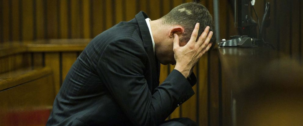 PHOTO: Oscar Pistorius is pictured in court in Pretoria, South Africa on April 17, 2014.