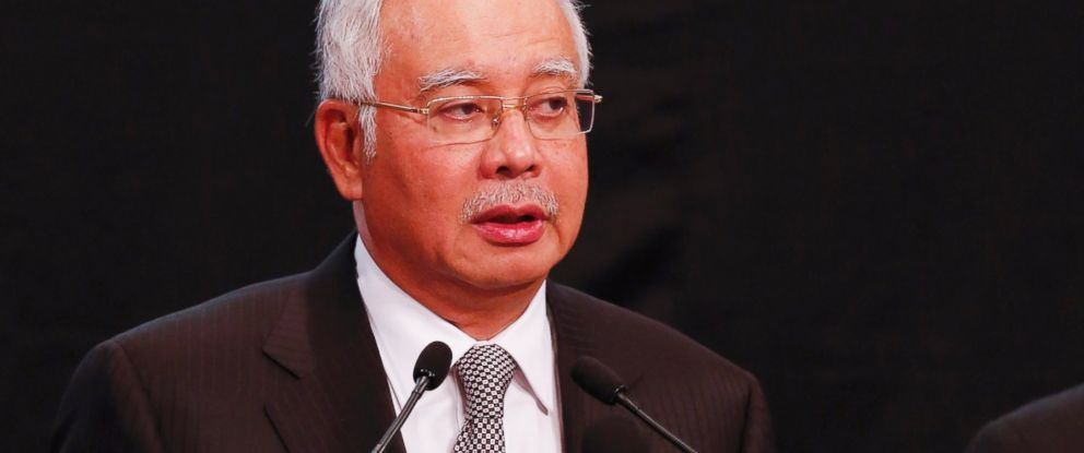 PHOTO: Malaysias Prime Minister Najib Razak speaks during the press conference for the missing Malaysia Airline, MH370 at Putra World Trade Centre (PWTC) in Kuala Lumpur, Malaysia, March 24, 2014.