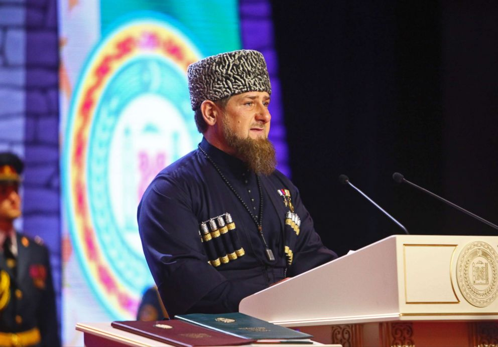 PHOTO: Chechen regional leader Ramzan Kadyrov speaks at his inauguration ceremony in Chechnyas provincial capital Grozny, Russia, Oct. 5, 2016.