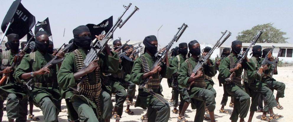 PHOTO: Hundreds of newly trained al-Shabab fighters perform military exercises in the Lafofe area south of Mogadishu, Somalia in this file photo, Feb. 17, 2011.