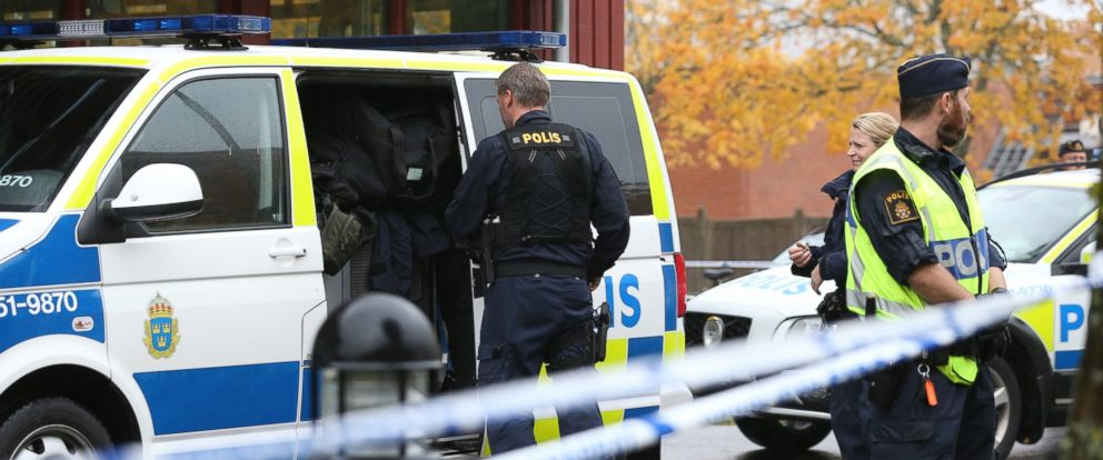PHOTO: A sword-wielding man carried out an attack at a school in Trollhattan, Sweden, Oct. 22, 2015.