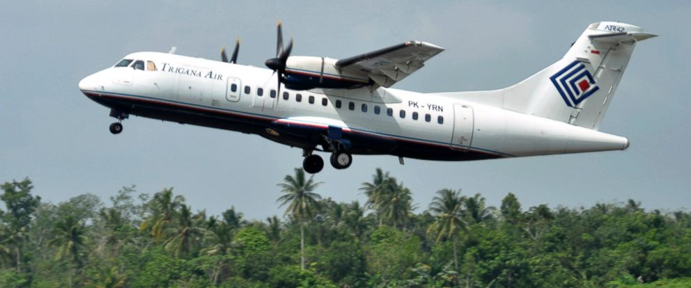 PHOTO: In this photo taken Dec. 26, 2010, Trigana Air Services ATR42-300 twin turboprop plane takes off at Supadio airport in Pontianak, West Kalimantan, Indonesia. The same type of a Trigana airliner carrying 54 people was missing, Aug. 16, 2015.