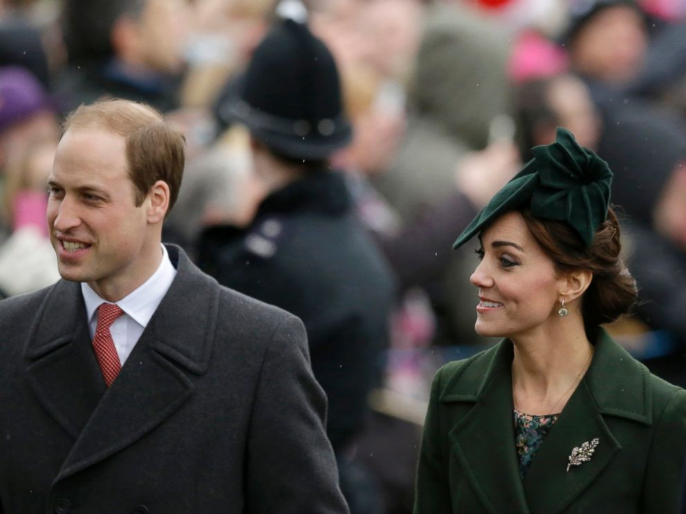 PHOTO Britains Prince William Left And His Wife Kate The Duchess Of Cambridge Arrive