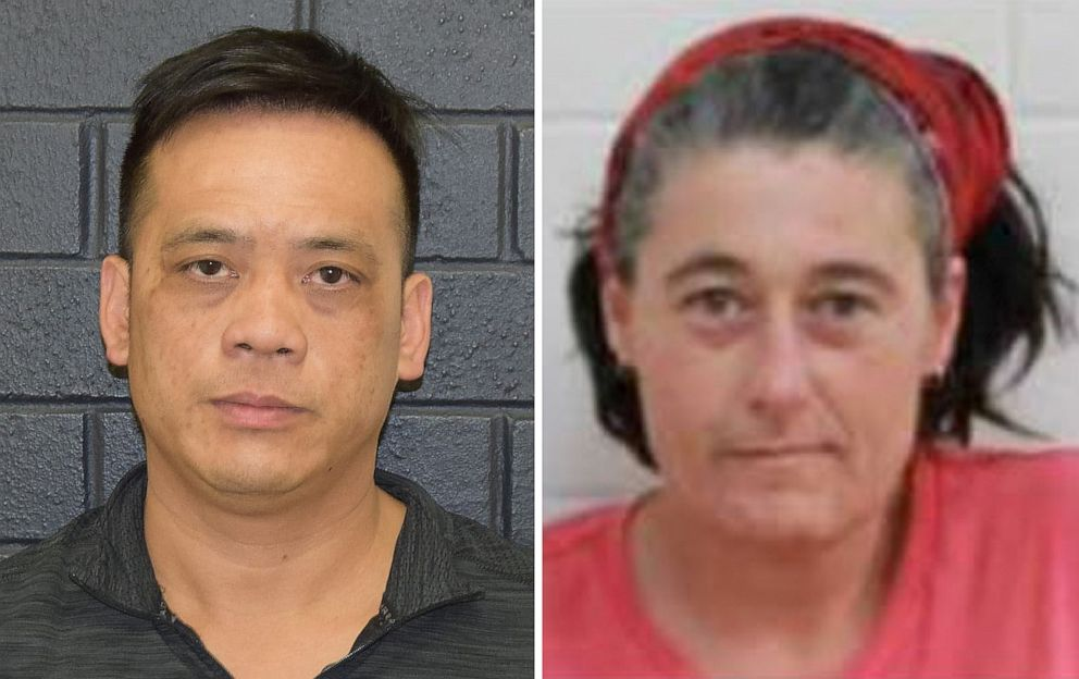 PHOTO: An undated combined image obtained December 2, 2019 shows Phu Tran (L) and Claire Hockridge who went missing in a remote area south of Alice Springs. Australian police said on Tuesday they had found Tran.