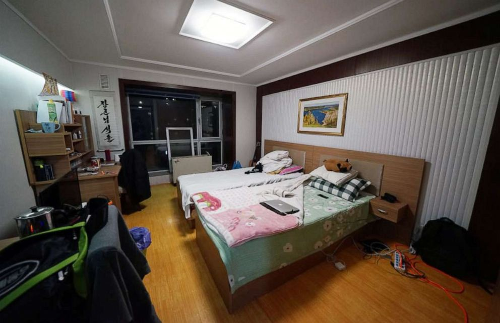 PHOTO: Alek Sigleys room in the foreign student dormitory at Kim Il Sung University, Pyongyang, North Korea.