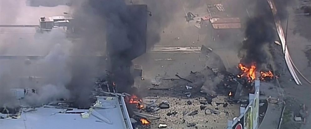 PHOTO: This image made from video shows the site of a plane crash at Essendon Airport in Melbourne, Australia Tuesday, Feb. 21, 2017.