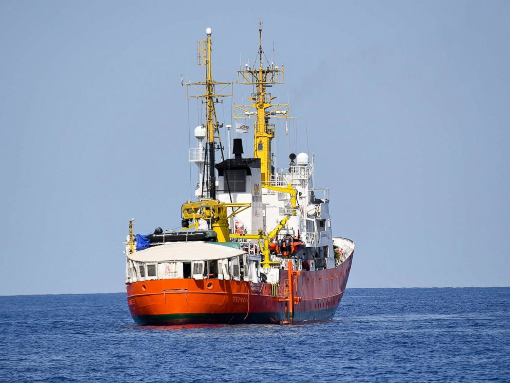 PHOTO: The French NGO Aquarius ship is seen in the Mediterranean Sea, June 12, 2018.  'Aquarius' ship carrying hundreds of migrants set to arrive in Spain after international controversy Aquarius ship ap ps 180614 hpMain 4x3 992