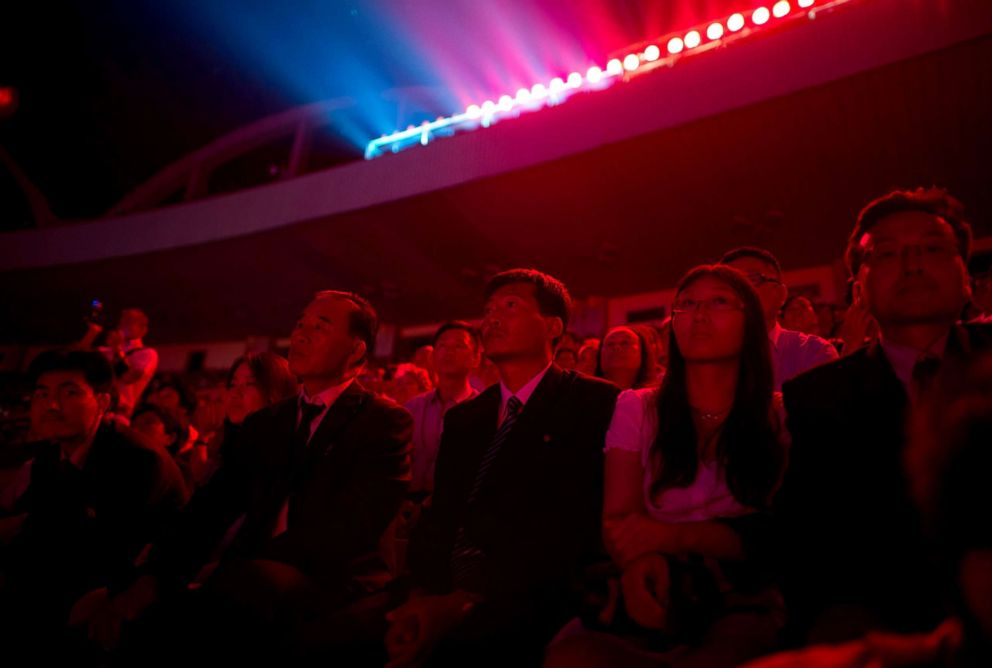 PHOTO: Spectators watch the Arirang Mass Games at the 150,000-seat Rungnado May Day Stadium in Pyongyang, North Korea, July 26, 2013.