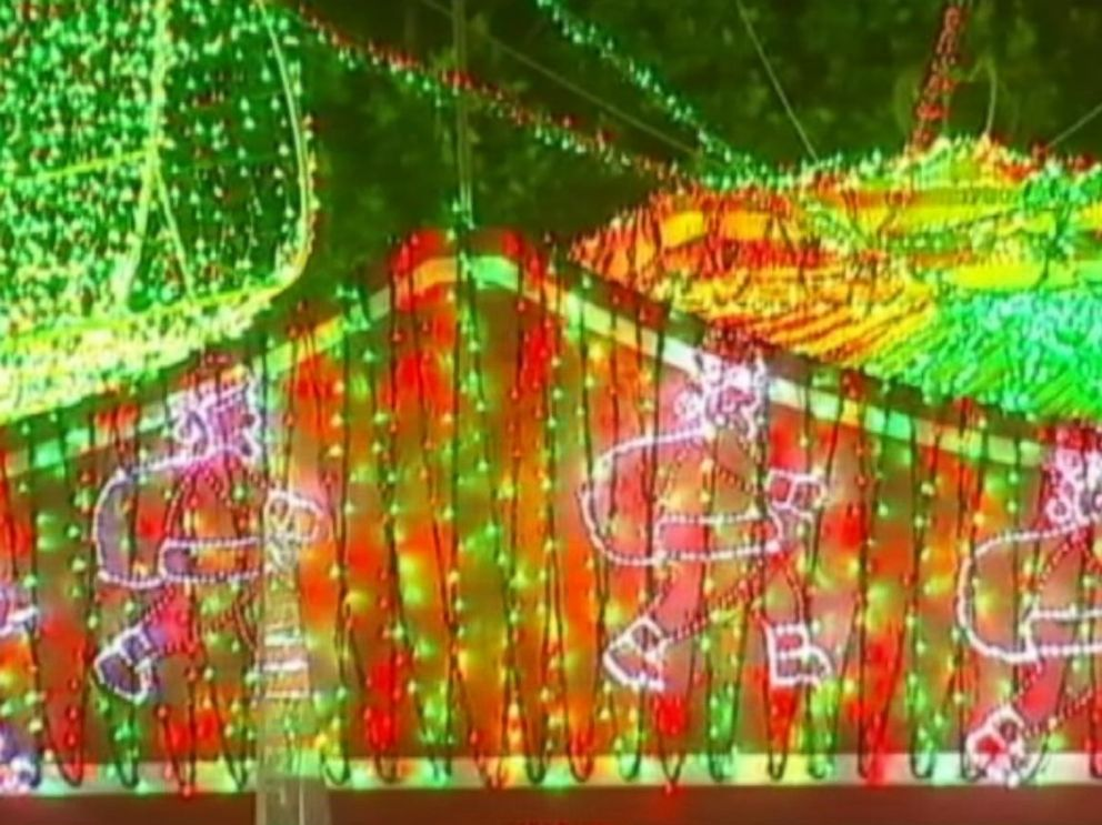 PHOTO: Australian David Richards in Canberra has created a Christmas light display that earned a Guinness World Records title for the largest image made of LED lights.