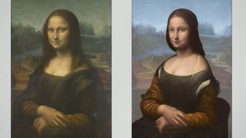 hidden portrait found under mona lisa painting abc news