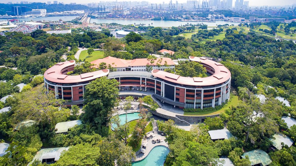 An undated handout photo of Capella hotel on Sentosa island, Singapore, released June 5, 2018.