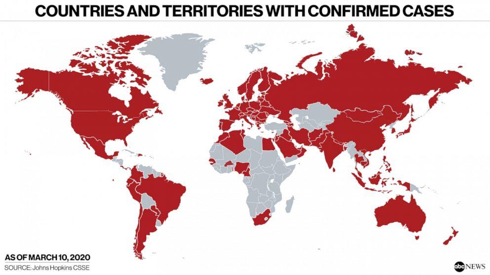 Image result for Corona Virus world map
