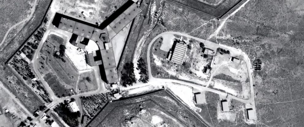 PHOTO: An undated handout photo made available by Amnesty International/Forensic Architecture shows Saydnaya prison in Syria.